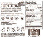 Dark Chocolate Truffle Piglets - Floral Gift Box Nutrition Label