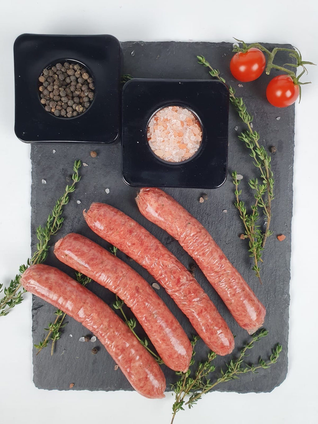 Halal Angus Beef Sausages with Salt/Sage and Pepper (500-550g)