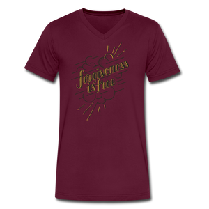 Forgiveness is Free | Men's V-Neck T-Shirt | Agape Flashcards - maroon