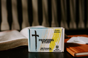 Agape Flashcards- Proverbs Study Flashcards | 100 of The Most Important Verses from Proverbs in the Bible