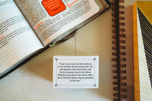 Agape Flashcards- Scripture Study Flashcards | 100 of The Most Important and Useful Bible Verses