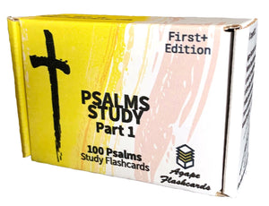 Agape Flashcards- Psalms Study Flashcards: Part 1 | 100 of The Most Important Verses from Psalms in the Bible