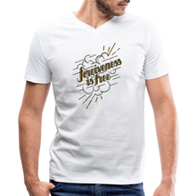 Load image into Gallery viewer, Forgiveness is Free | Men's V-Neck T-Shirt | Agape Flashcards