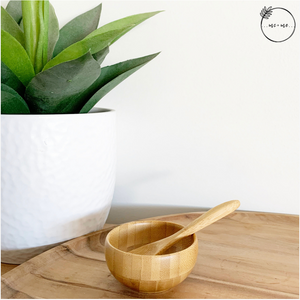 Essential Oil Aromatic Dressing Bowl + Spoon (Bamboo)