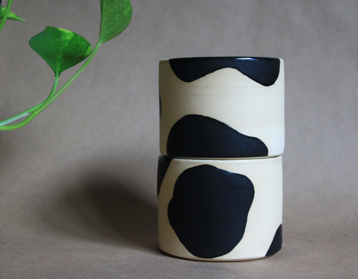 Pair of Cow Print Tumblers