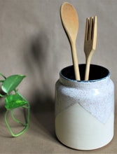 Tall Oatmeal Utensil Holder