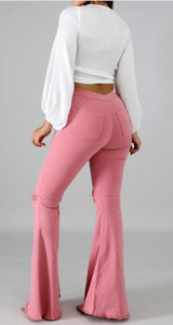 """Pocatello"" Pink Bell Bottoms"