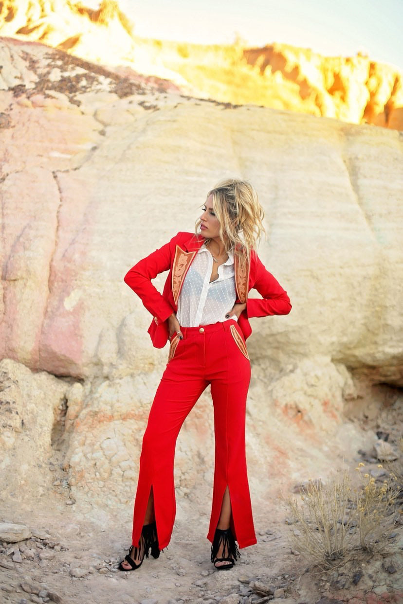 Ft Worth Tooled Pantsuit Set