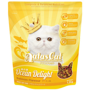 Aatas Cat Ocean Delight Salmon Flavour Dry Cat Food (2 Sizes).Happy Hoomans