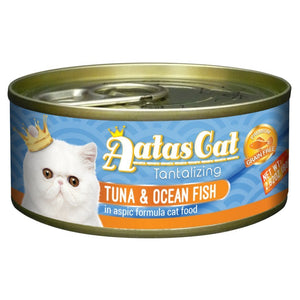Aatas Cat Tantalizing Tuna & Ocean Fish in Aspic Canned Cat Food, 80g.Happy Hoomans