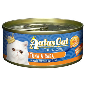 Aatas Cat Tantalizing Tuna & Saba in Aspic Canned Cat Food, 80g.Happy Hoomans