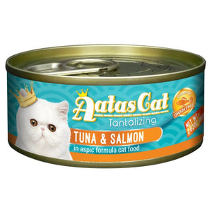 Aatas Cat Tantalizing Tuna & Salmon in Aspic Canned Cat Food, 80g.Happy Hoomans