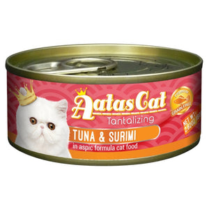 Aatas Cat Tantalizing Tuna & Surimi in Aspic Canned Cat Food, 80g.Happy Hoomans