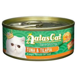 Aatas Cat Tantalizing Tuna & Tilapia in Aspic Canned Cat Food, 80g.Happy Hoomans
