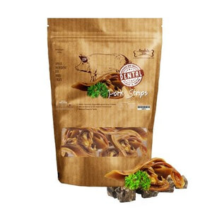 Absolute Bites Air-Dried Pork Strips Dog Treats, 260g.Happy Hoomans