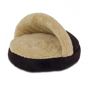 All For Paws Cozy Snuggle Cat Bed - Brown.Happy Hoomans