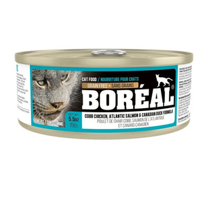 Boréal Cobb Chicken, Atlantic Salmon & Canadian Duck Grain-Free Canned Cat Food, 156g.Happy Hoomans
