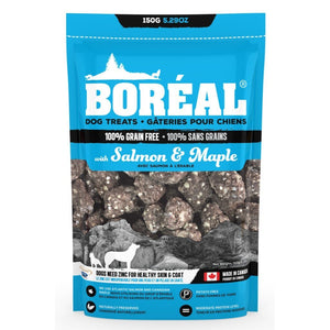 Boréal Salmon & Maple Grain-Free Dog Treats, 150g.Happy Hoomans