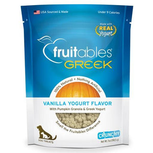 Fruitables Greek Vanilla Yogurt Crunchy Dog Treats, 7oz - Happy Hoomans