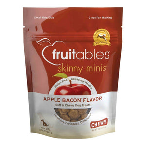 Fruitables Skinny Minis Apple Bacon Chewy Dog Treats, 5oz - Happy Hoomans