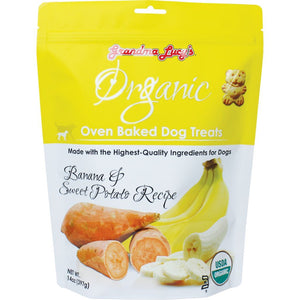 Grandma Lucy's Organic Banana & Sweet Potato Recipe Oven-Baked Dog Treats, 397g - Happy Hoomans
