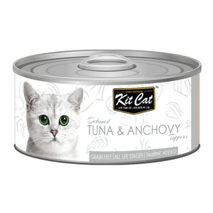 Kit Cat Deboned Tuna & Anchovy Toppers Canned Cat Food, 80g - Happy Hoomans
