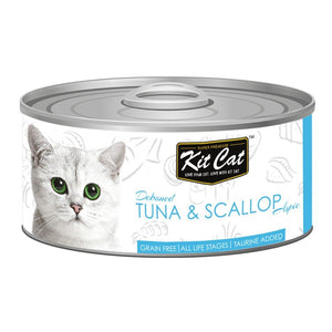 Kit Cat Deboned Tuna & Scallop Aspic Canned Cat Food, 80g - Happy Hoomans