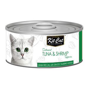 Kit Cat Deboned Tuna & Shrimp Toppers Canned Cat Food, 80g - Happy Hoomans