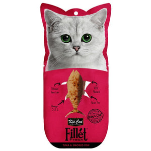Kit Cat Fillet Fresh Tuna & Smoked Fish Cat Treats, 30g - Happy Hoomans