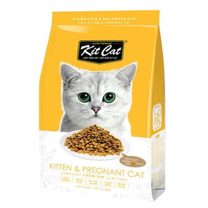 Kit Cat Kitten & Pregnant (Healthy Growth) Premium Dry Cat Food (2 Sizes) - Happy Hoomans