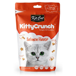 Kit Cat Kitty Crunch Salmon Flavor Cat Treats, 60g - Happy Hoomans