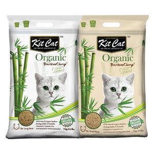 Kit Cat Organic Bamboo Clump Cat Litter (2 Sizes) - Happy Hoomans