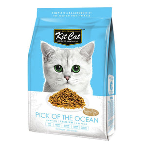 Kit Cat Pick Of The Ocean (Urinary Care) Premium Dry Cat Food (3 Sizes) - Happy Hoomans