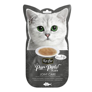 Kit Cat Purr Puree Plus+ Tuna & Glucosamine (Joint Care) Cat Treats, 4x15g - Happy Hoomans