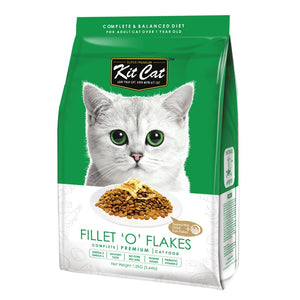 Kit Cat Signature Fillet-O-Flakes (Increase Appetite) Premium Dry Cat Food (2 Sizes) - Happy Hoomans