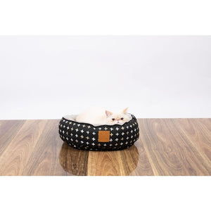 Mog & Bone Reversible Cat Bed - Black Metallic Cross - Happy Hoomans