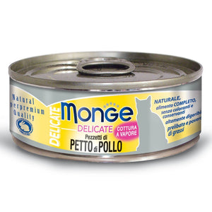 Monge Delicate Chicken Canned Cat Food, 80g - Happy Hoomans