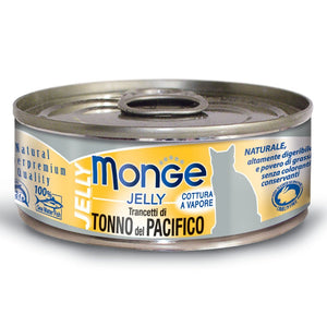 Monge Jelly Yellowfin Tuna Canned Cat Food, 80g - Happy Hoomans
