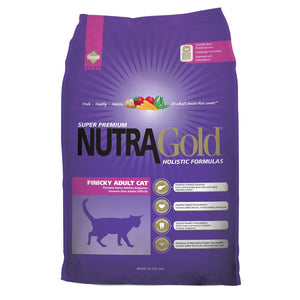 NutraGold Holistic Finicky Adult Cat Dry Food (2 Sizes) - Happy Hoomans