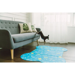 Sapsal Waterproof Pet Soft Mat - Blue (2 Sizes) - Happy Hoomans
