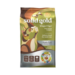 Solid Gold Winged Tiger Quail & Pumpkin Grain-Free Dry Cat Food (2 Sizes) - Happy Hoomans