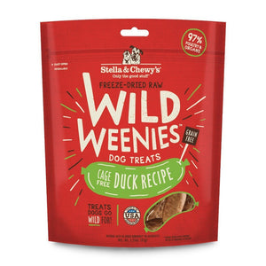 Stella & Chewy's Wild Weenies Duck Recipe Freeze-Dried Raw Dog Treats, 3.25oz - Happy Hoomans