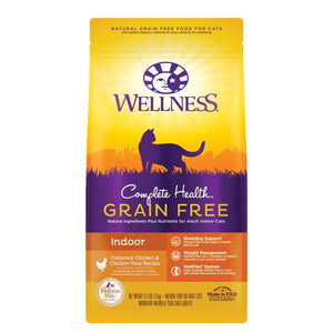 Wellness Complete Health Grain-Free Indoor Chicken Recipe Dry Cat Food (2 Sizes) - Happy Hoomans
