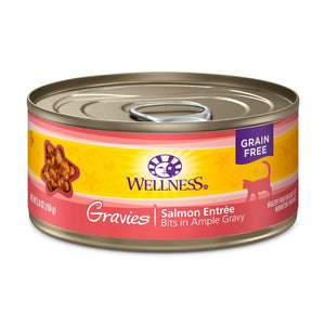Wellness Complete Health Gravies Salmon Entrée Grain-Free Canned Cat Food, 3oz - Happy Hoomans