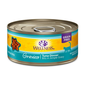 Wellness Complete Health Gravies Tuna Dinner Grain-Free Canned Cat Food, 3oz - Happy Hoomans