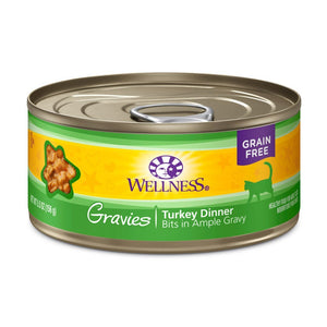 Wellness Complete Health Gravies Turkey Dinner Grain-Free Canned Cat Food, 3oz - Happy Hoomans