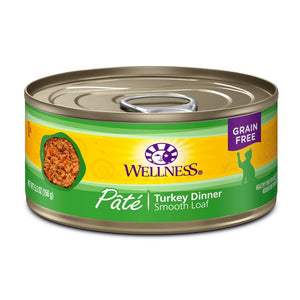 Wellness Complete Health Pate Turkey Dinner Grain-Free Canned Cat Food, 5.5oz - Happy Hoomans