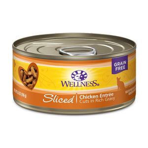 Wellness Complete Health Sliced Chicken Entrée Grain-Free Canned Cat Food, 5.5oz - Happy Hoomans