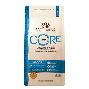 Wellness CORE Indoor Salmon & Herring Grain-Free Dry Cat Food (3 Sizes) - Happy Hoomans