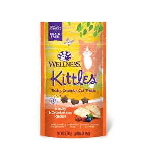Wellness Kittles Turkey & Cranberries Grain-Free Crunchy Cat Treats, 2oz - Happy Hoomans